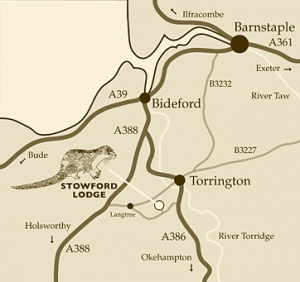 Stowford Lodge Map and Directions